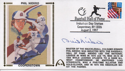 Phil Niekro Autographed Aug 3, 1997 First Day Cover