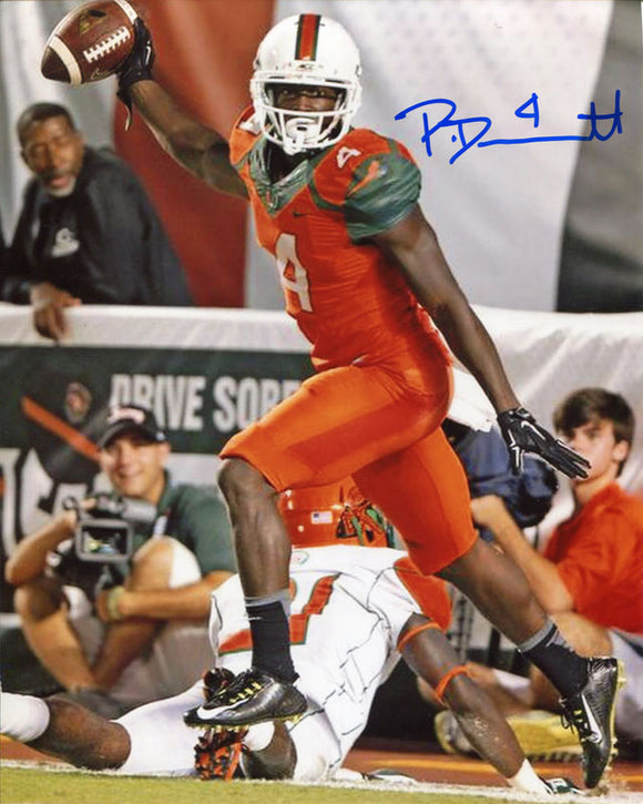 Phillip Dorsett Autographed Celebrating 8x10 Photo