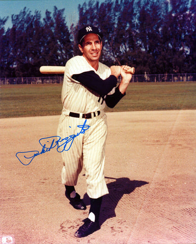 Phil Rizzuto Autographed 8x10 Pitching Photo