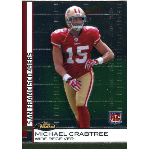 Michael Crabtree Unsigned 2009 Topps Finest Rookie Card