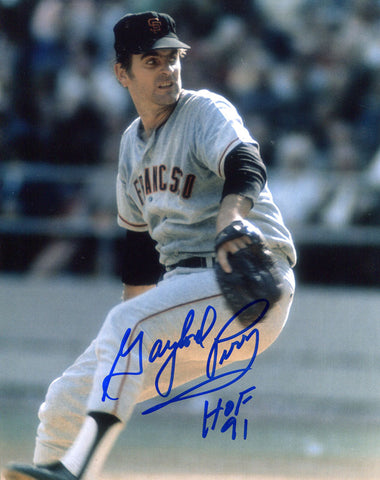 Gaylord Perry HOF 91 Autographed 8x10 Photo