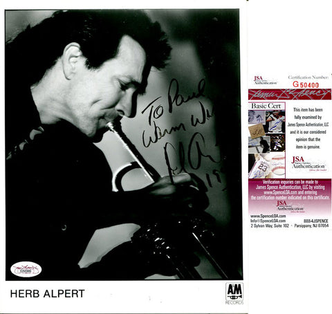 Herb Albert Signed 8x10 Photo JSA