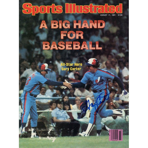 Gary Carter Autographed Sports Illustrated 9/17/81
