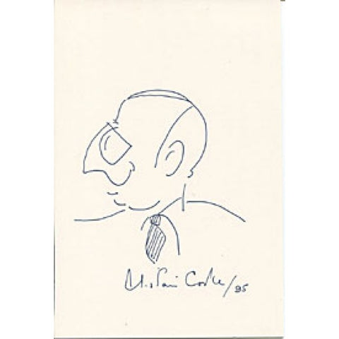 Alistair Cooke Autographed/Signed 8x10 Hand Drawing