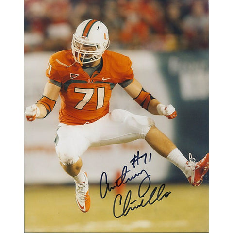 Anthony Chickillo Autographed 8x10 Football Photo