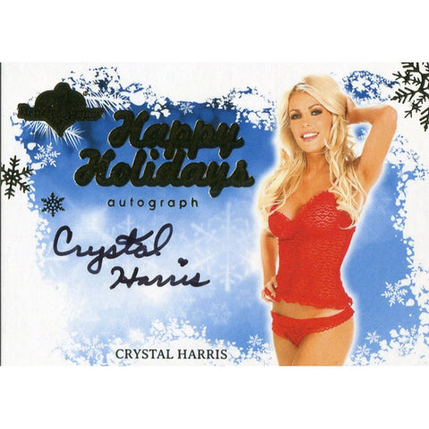 Crystal Harris Autographed 2012 Bench Warmers Card