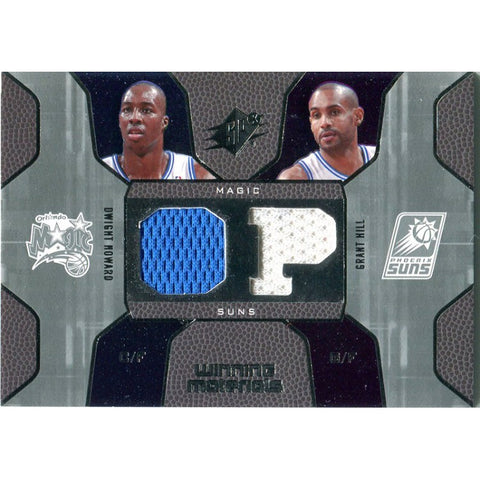 Dwight Howard & Grant Hill Unsigned 2007-2008 Upper Deck Jersey Card
