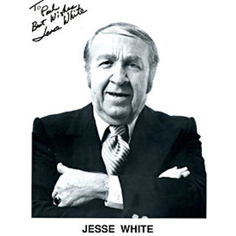 Jesse White Autographed / Signed Black & White 8x10 Photo