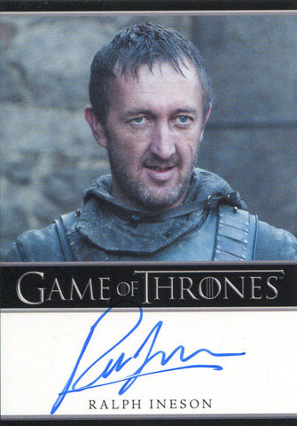 Ralph Ineson Autographed 2012 Game of Thrones Card