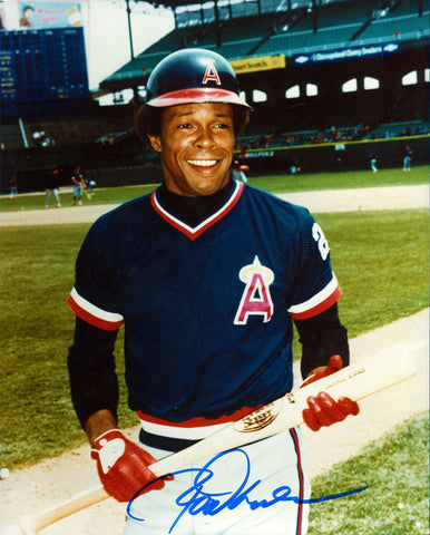 Red Carew Autographed 8x10 Photo