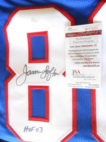 James Lofton HOF 03 Signed Jersey JSA Witness COA 818291 Buffalo Bills Autograph