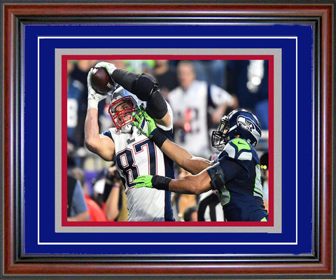 Rob Gronkowski Unsigned Framed Super Bowl XLIX Touchdown 8x10 Photo