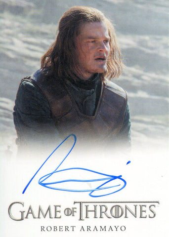 Robert Aramayo Autographed 2017 Game of Thrones Card