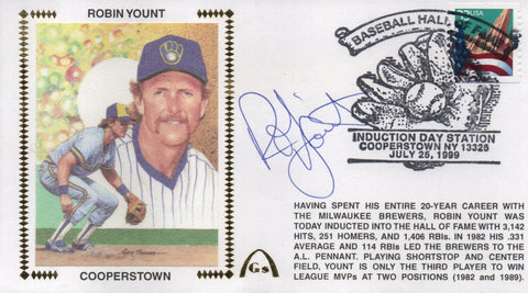 Robin Yount Autographed July 25, 1999 First Day Cover