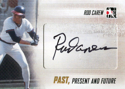 Rod Carew Autographed 2013 In the Game Card