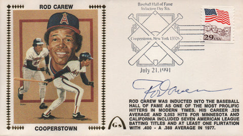 Rod Carew Autographed July 21, 1991 First Day Cover