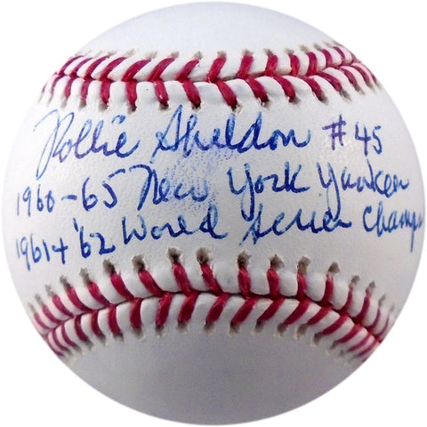 Rollie Sheldon Autographed Multi Inscribed Baseball (JSA)