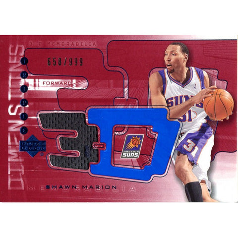 Shawn Marion Unsigned 2003-04 Upper Deck Jersey Card