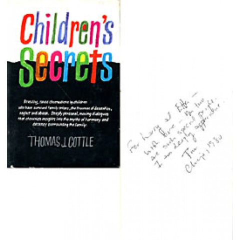 Thomas J. Cottle Autographed / Signed Children's Secrets Book
