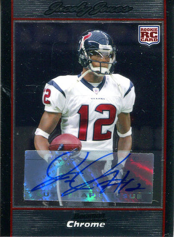 Jacoby Jones Autographed 2007 Bowman Chrome Rookie Card