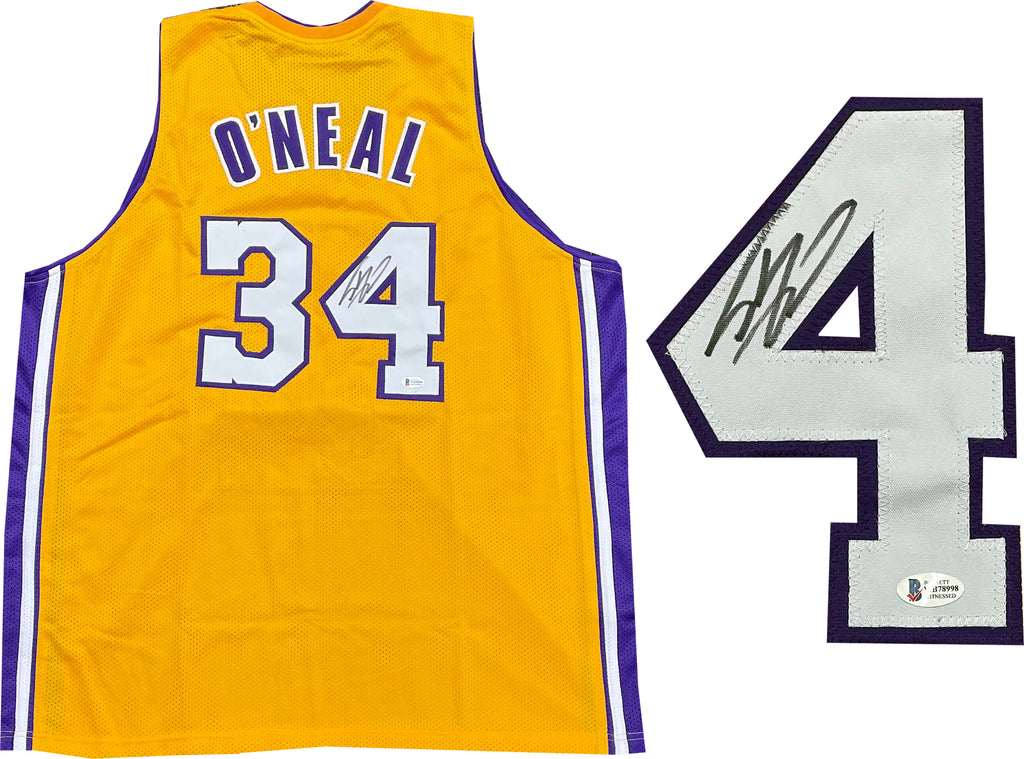 Shaquille O'Neal Autographed Los Angeles Lakers Custom Jersey (BVG ...