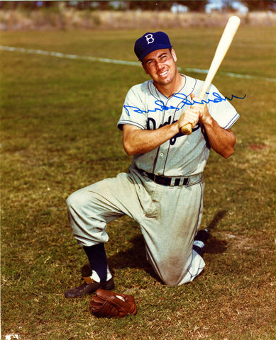 Duke Snider Autographed 8x10 Bat And Glove Photo