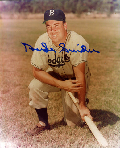 Duke Snider Autographed 8x10 On One Knee Photo