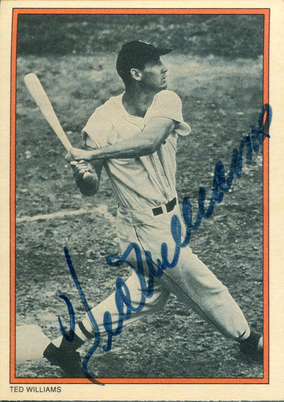 Ted Williams Autographed 1985 Circle K TCG Card