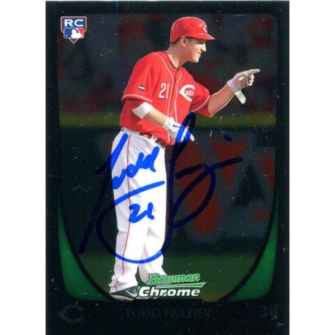 Todd Frazier Autographed 2011 Bowman Chrome Rookie Card