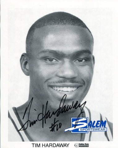 Tim Hardaway Autographed 8x10 Photo