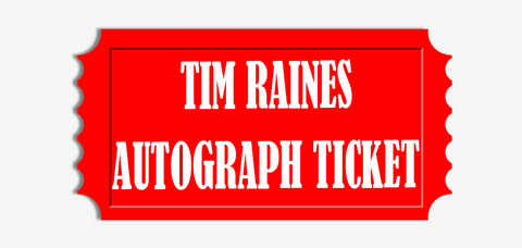 Tim Raines Flat Item (Up to 11x14) Pre-Order Autograph Ticket