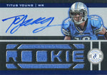 Titus Young Autographed 2012 Panini Totally Certified Rookie Jersey Card