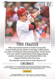 Todd Frazier Autographed 2012 Panini Prizm Rookie Card Back
