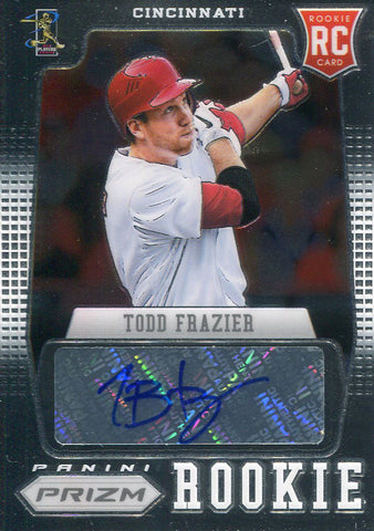 Todd Frazier Autographed 2012 Panini Prizm Rookie Card Front