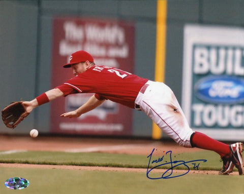 Todd Frazier Autographed Diving Catch 8x10 Photo