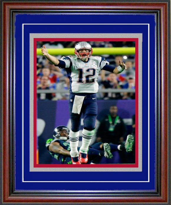 Copy of Tom Brady Unsigned Framed Super Bowl XLIX Celebration 8x10 Photo