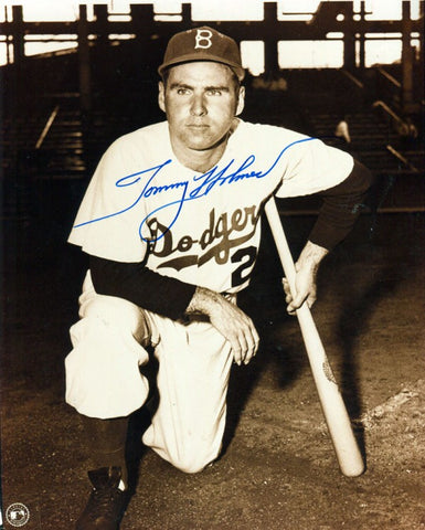 Tommy Holmes Autographed 8x10 Black and White Photo