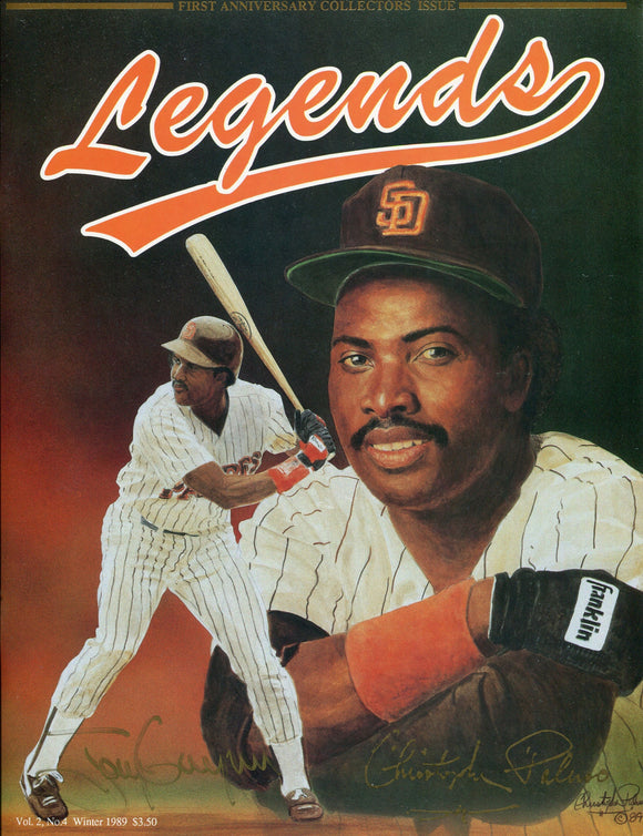 Tony Gwynn & Christopher Palmer Autographed Legends Program (JSA)