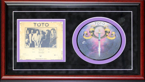 Billy Kimball Autographed Framed Toto Record