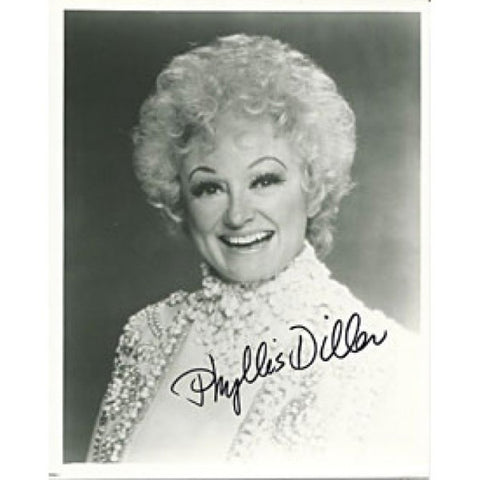 Phyllis Diller Autographed/Signed 8x10 Photo