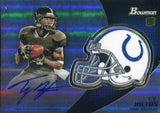 TY Hilton Autographed 2012 Bowman Chrome Rookie Card