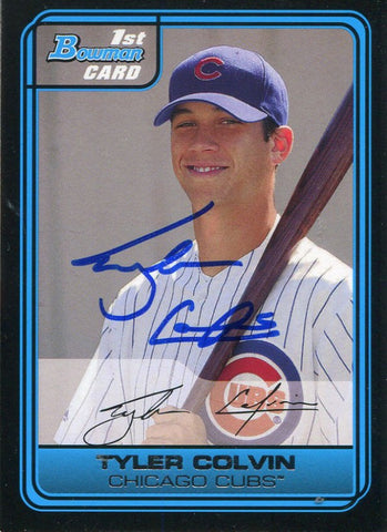 Tyler Colvin Autographed 2006 Bowman Rookie Card