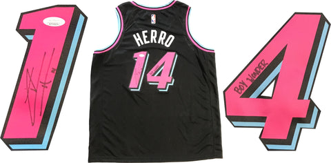 "Tyler Herro ""Boy Wonder"" Autographed Miami Heat ViceNight Swingman Jersey (JSA)"