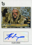 Tyler Mane Autographed 2013 Topps Card Front