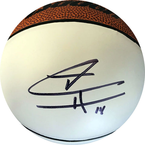 Tyler Herro Autographed White Panel Mini Basketball (JSA)