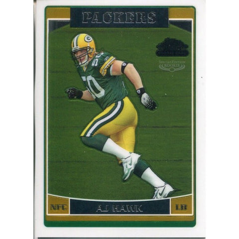 AJ Hawk Unsigned 2006 Topps Special Edition Chrome Rookie Card