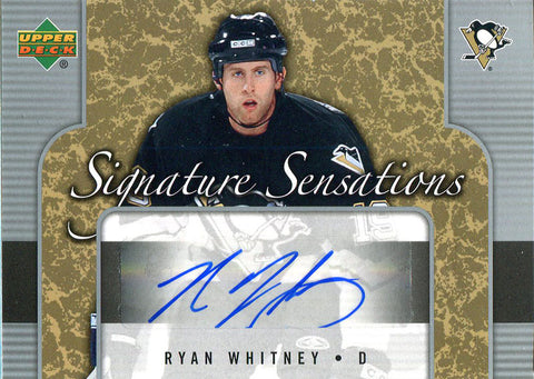 Ryan Whitney Autographed 2006 Upper Deck Card