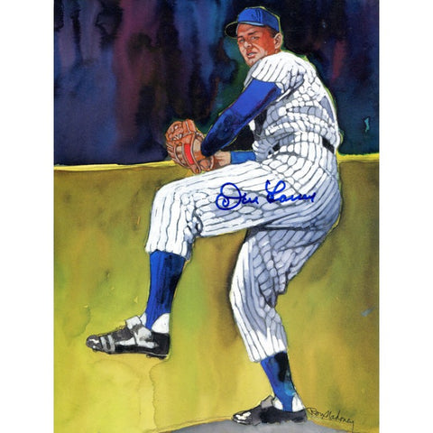 Don Larsen Yankees Autographed 8x10 Litho Photo