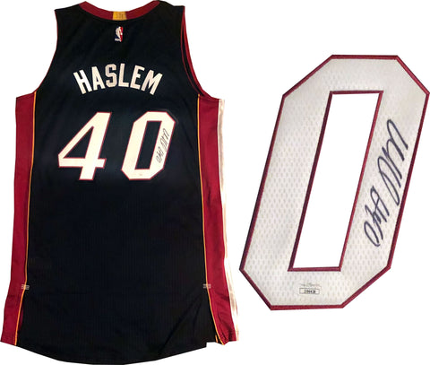 Udonis Haslem Autographed Authentic Miami Heat Jersey (JSA)