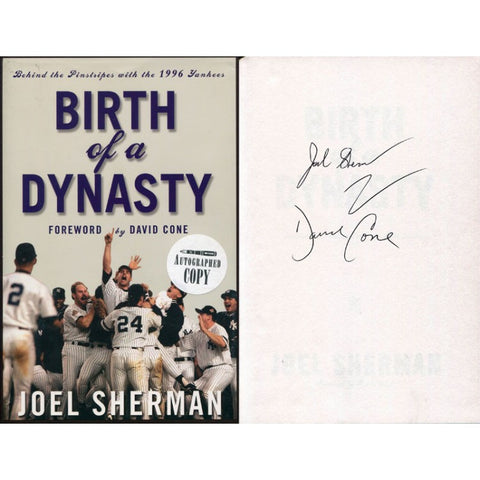 David Cone & Joel Sherman Autographed For Birth of a Dynasty Book